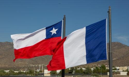 Bandera chile francia
