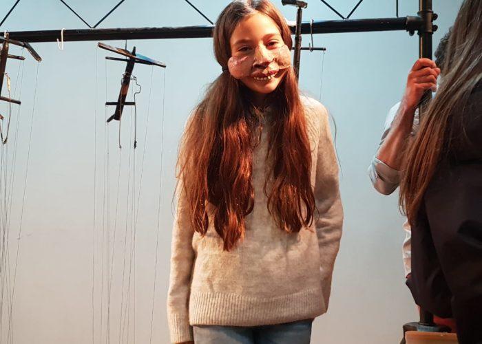 essai de masque pour Noor, élève de 6B